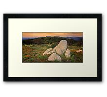 View from Mt Stirling - high country Framed Print
