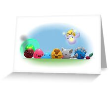 Slime Rancher (basic slimes) Greeting Card