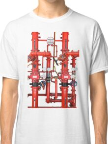 Decorative Art Red Pipes Classic T-Shirt