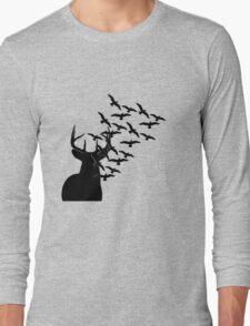 Deer and Birds Long Sleeve T-Shirt