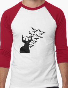Deer and Birds Men's Baseball ¾ T-Shirt