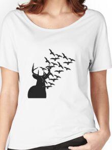 Deer and Birds Women's Relaxed Fit T-Shirt