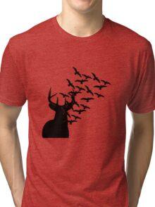 Deer and Birds Tri-blend T-Shirt