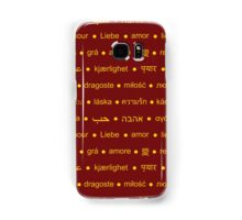 Love In Languages  Samsung Galaxy Case/Skin
