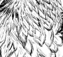 Bearded Vulture Portrait (B+W) Sticker