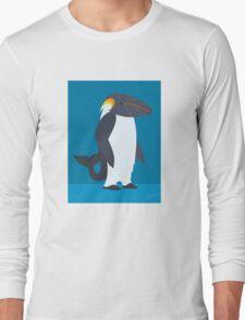 Humpback Whale - Emperor Penguin Long Sleeve T-Shirt