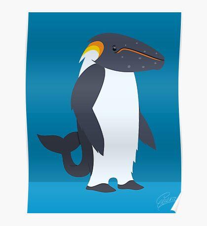 Humpback Whale - Emperor Penguin Poster