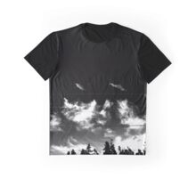 Black and White Sky Graphic T-Shirt