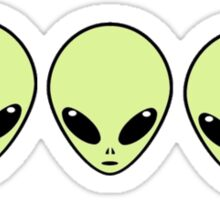 alien trio Sticker