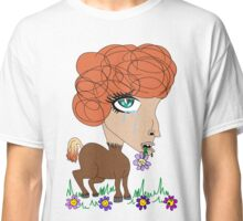 Crying Horse Woman Classic T-Shirt