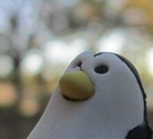 Eraser Penguin - Circle Sticker