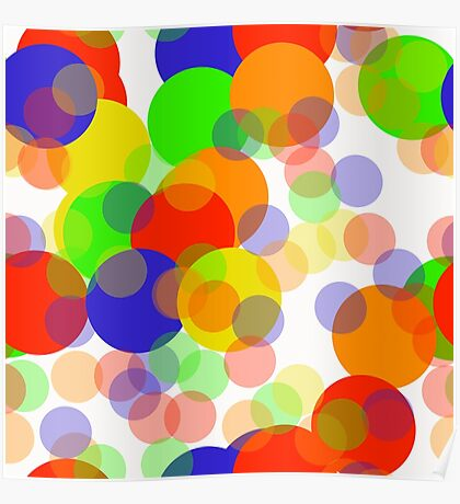 Bright Circles Poster