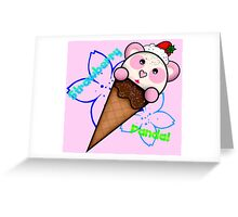 Strawberry Panda Greeting Card