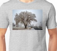 Winter willow tree Unisex T-Shirt
