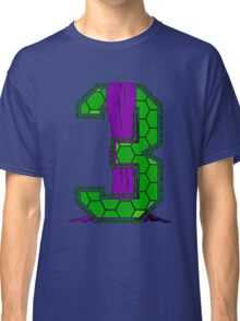 Turtle Shell Jersey Number - 3 Classic T-Shirt
