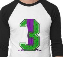 Turtle Shell Jersey Number - 3 Men's Baseball ¾ T-Shirt