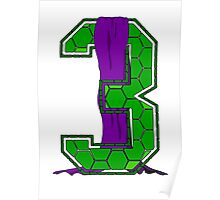 Turtle Shell Jersey Number - 3 Poster