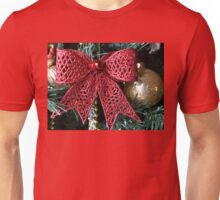 Red Christmas bow Unisex T-Shirt