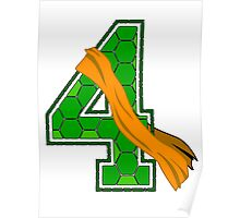 Turtle Shell Jersey Number - 4 Poster