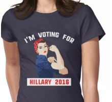 I'm voting for Hillary 2016 rosie riveter Womens Fitted T-Shirt