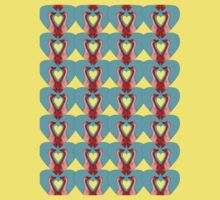 Geese in Heart Pattern With  Variations Kids Tee