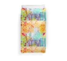 Pastel Flourishes Abstract Duvet Cover