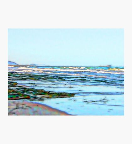 Fabulous abstract ocean view of the Pacific Ocean Photographic Print