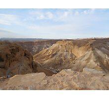 Hiking Masada Photographic Print