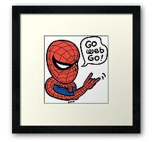 Go Web Go! Framed Print