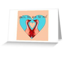 Geese in Heart Pattern With  Variations Greeting Card