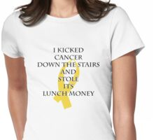 Cancer Bully (Gold Ribbon)  Womens Fitted T-Shirt