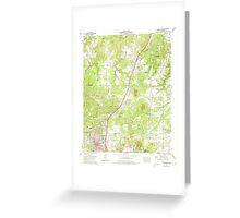 USGS TOPO Map Alabama AL Russellville 304989 1971 24000 Greeting Card