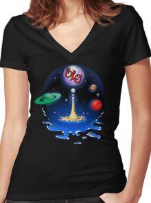 E.L.O. Universe Women's Fitted V-Neck T-Shirt