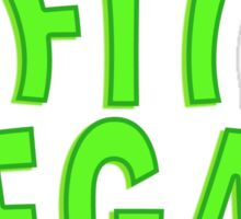 Fit Vegan Greens Text Sticker