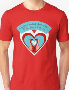 Happy Wedding Anniversary - Geese in Hearts T-Shirt