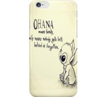 Ohana Means Family Lilo And Stich iPhone Case/Skin