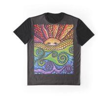 Mosaic Sunscape Graphic T-Shirt