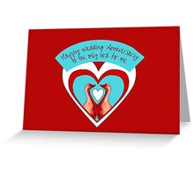 Happy Wedding Anniversary - Geese in Hearts Greeting Card