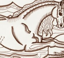 Narwhalicornceros in the Sea Sticker