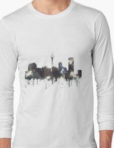 Calgary, Alberta Skyline, CANADA - CRISP Long Sleeve T-Shirt