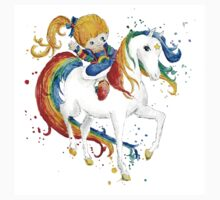 Watercolor Rainbow Brite Kids Tee