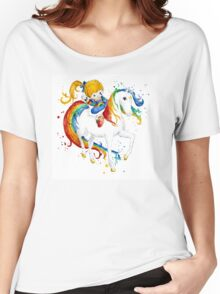 Watercolor Rainbow Brite Women's Relaxed Fit T-Shirt