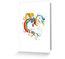 Watercolor Rainbow Brite Greeting Card