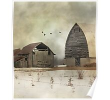Old Barns - Photograph - Digital Art Poster