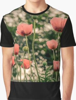 Pink Poppy in late everning light Graphic T-Shirt