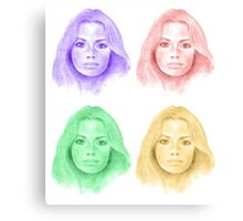 Jennifer in Four Colors Canvas Print