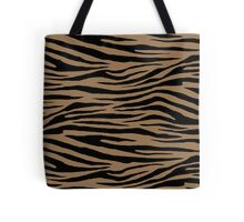 0486 Pale Brown Tiger Tote Bag