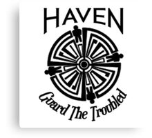 Haven Troubled Tattoo Black Logo Canvas Print