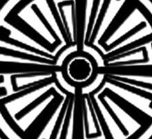 Haven Troubled Tattoo Black Logo Sticker