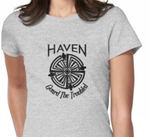 Haven Troubled Tattoo Black Logo Womens Fitted T-Shirt
